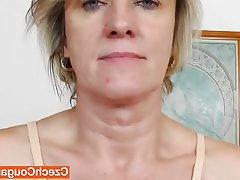 Close Up, Czech, Masturbation, Mature