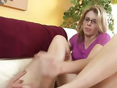 Close Up, Cumshot, Foot Fetish, Handjob