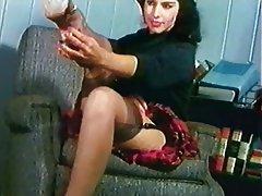 Brunette, Stockings, Vintage