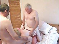 Cumshot, Group Sex, Mature, Stockings